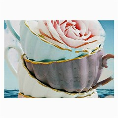 Tea Cups Large Glasses Cloth (2 Side) by 8fugoso