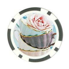 Tea Cups Poker Chip Card Guard by 8fugoso