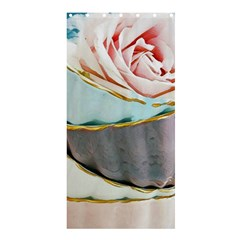 Tea Cups Shower Curtain 36  X 72  (stall)  by 8fugoso