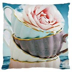 Tea Cups Standard Flano Cushion Case (two Sides) by 8fugoso