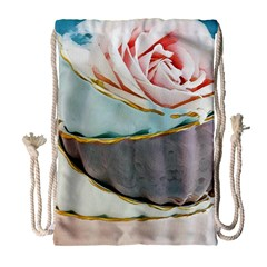 Tea Cups Drawstring Bag (large) by 8fugoso