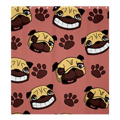 Happy Pugs Shower Curtain 66  X 72  (large)  by allthingseveryone