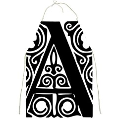 Alphabet Calligraphy Font A Letter Full Print Aprons by Celenk