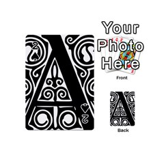 Alphabet Calligraphy Font A Letter Playing Cards 54 (mini)