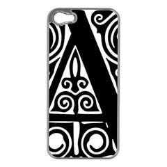 Alphabet Calligraphy Font A Letter Apple Iphone 5 Case (silver) by Celenk