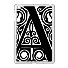 Alphabet Calligraphy Font A Letter Apple Ipad Mini Case (white)