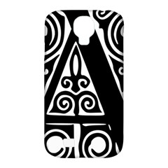 Alphabet Calligraphy Font A Letter Samsung Galaxy S4 Classic Hardshell Case (pc+silicone) by Celenk