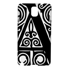 Alphabet Calligraphy Font A Letter Samsung Galaxy Note 3 N9005 Hardshell Case by Celenk