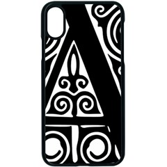 Alphabet Calligraphy Font A Letter Apple Iphone X Seamless Case (black)