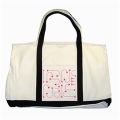 Arrows Girly Pink Cute Decorative Two Tone Tote Bag by Celenk