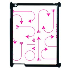 Arrows Girly Pink Cute Decorative Apple Ipad 2 Case (black)