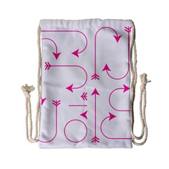 Arrows Girly Pink Cute Decorative Drawstring Bag (small) by Celenk
