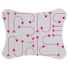 Arrows Girly Pink Cute Decorative Jigsaw Puzzle Photo Stand (bow) by Celenk