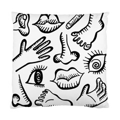 Anatomy Icons Shapes Ear Lips Standard Cushion Case (one Side)