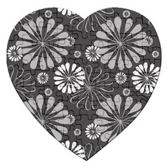 Floral Pattern Floral Background Jigsaw Puzzle (heart)