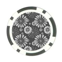 Floral Pattern Floral Background Poker Chip Card Guard by Celenk