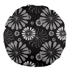 Floral Pattern Floral Background Large 18  Premium Round Cushions by Celenk