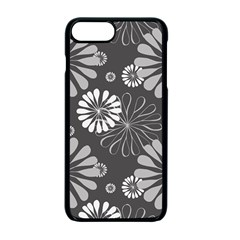 Floral Pattern Floral Background Apple Iphone 7 Plus Seamless Case (black)