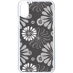 Floral Pattern Floral Background Apple Iphone X Seamless Case (white)