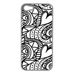 Seamless Tile Background Abstract Apple Iphone 5 Case (silver)