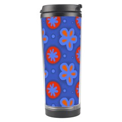 Seamless Tile Repeat Pattern Travel Tumbler by Celenk