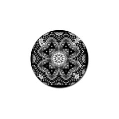 Mandala Calming Coloring Page Golf Ball Marker (4 Pack) by Celenk