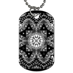 Mandala Calming Coloring Page Dog Tag (two Sides)
