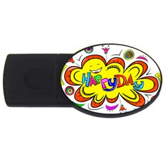Happy Happiness Child Smile Joy Usb Flash Drive Oval (2 Gb) by Celenk