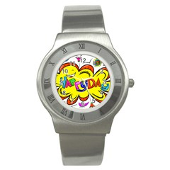 Happy Happiness Child Smile Joy Stainless Steel Watch by Celenk