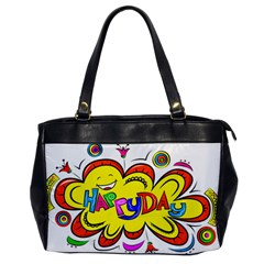 Happy Happiness Child Smile Joy Office Handbags by Celenk
