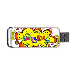 Happy Happiness Child Smile Joy Portable Usb Flash (two Sides) by Celenk