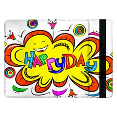 Happy Happiness Child Smile Joy Samsung Galaxy Tab Pro 12 2  Flip Case by Celenk