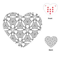 Pattern Design Pretty Cool Art Playing Cards (heart)