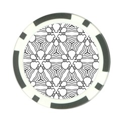 Pattern Design Pretty Cool Art Poker Chip Card Guard by Celenk