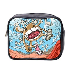 Illustration Characters Comics Draw Mini Toiletries Bag 2 Side by Celenk