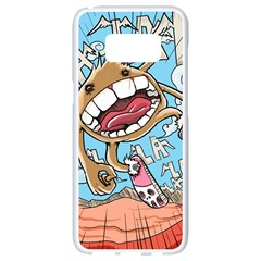 Illustration Characters Comics Draw Samsung Galaxy S8 White Seamless Case
