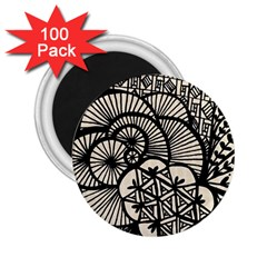 Background Abstract Beige Black 2 25  Magnets (100 Pack)  by Celenk