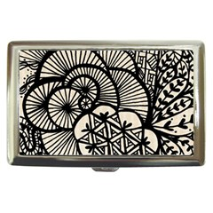 Background Abstract Beige Black Cigarette Money Cases by Celenk