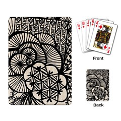 Background Abstract Beige Black Playing Card by Celenk