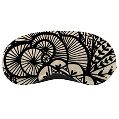 Background Abstract Beige Black Sleeping Masks by Celenk