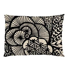 Background Abstract Beige Black Pillow Case (two Sides)