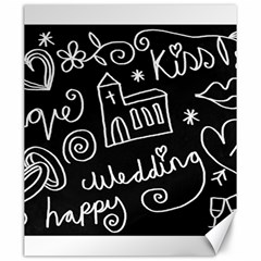 Wedding Chalkboard Icons Set Canvas 20  X 24   by Celenk