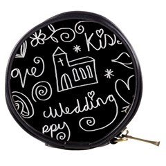 Wedding Chalkboard Icons Set Mini Makeup Bags by Celenk