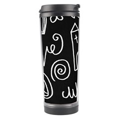 Wedding Chalkboard Icons Set Travel Tumbler by Celenk