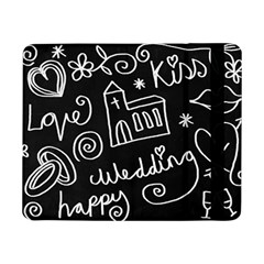 Wedding Chalkboard Icons Set Samsung Galaxy Tab Pro 8 4  Flip Case