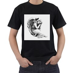 Stippling Drawing Dots Stipple Men s T Shirt (black)