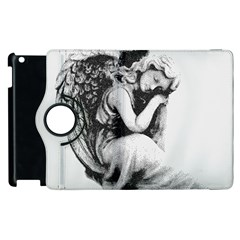 Stippling Drawing Dots Stipple Apple Ipad 3/4 Flip 360 Case by Celenk