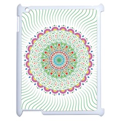 Flower Abstract Floral Apple Ipad 2 Case (white) by Celenk