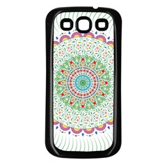 Flower Abstract Floral Samsung Galaxy S3 Back Case (black) by Celenk