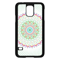 Flower Abstract Floral Samsung Galaxy S5 Case (black) by Celenk